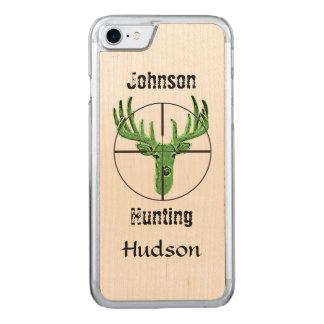 Logotipo de la caza de los ciervos funda para iPhone 7 de carved