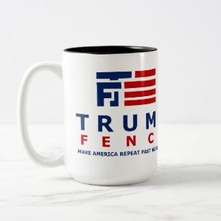 Logotipo de la cerca del triunfo taza de café de dos colores