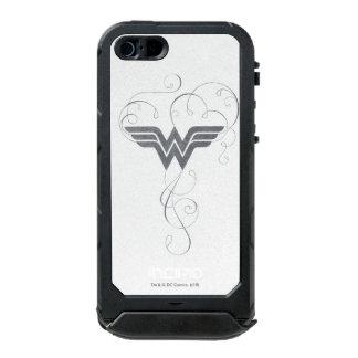 Logotipo de la dicha de la belleza de la Mujer Funda Para iPhone 5 Incipio ATLAS ID