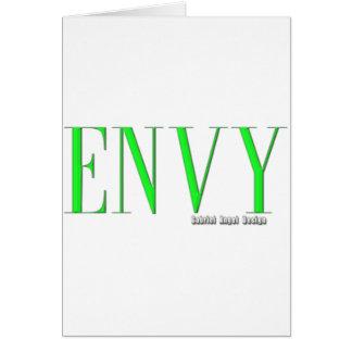 Logotipo de la envidia tarjetas