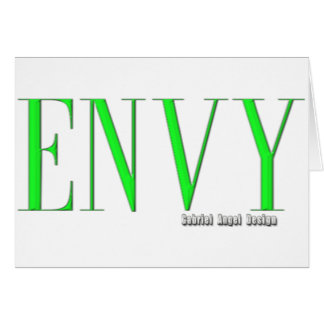 Logotipo de la envidia tarjeta de felicitación