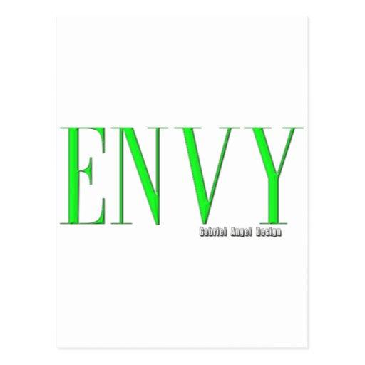 Logotipo de la envidia postales