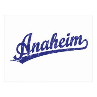 Logotipo de la escritura de Anaheim en azul Postal