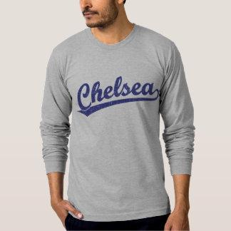 Logotipo de la escritura de Chelsea en azul Camiseta