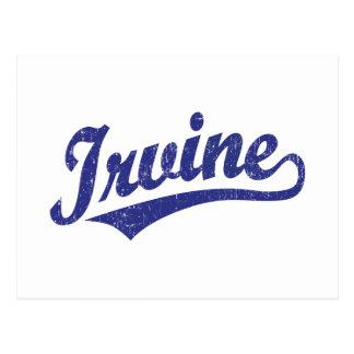 Logotipo de la escritura de Irvine en el azul Postal