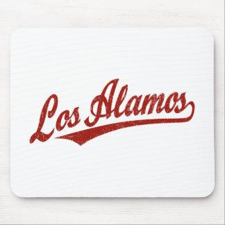 Logotipo de la escritura de Los Alamos en el rojo  Tapete De Ratón