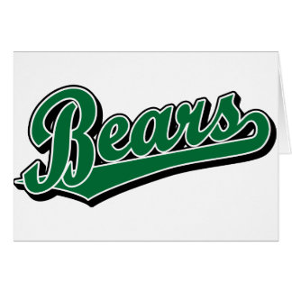 Logotipo de la escritura de los osos en verde tarjeta
