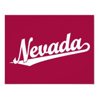 Logotipo de la escritura de Nevada en blanco Invitación 10,8 X 13,9 Cm