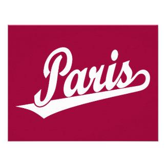 Logotipo de la escritura de París en blanco Comunicados