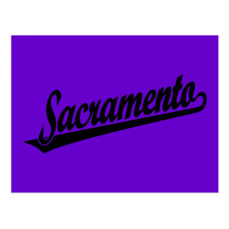 Logotipo de la escritura de Sacramento en negro Postales