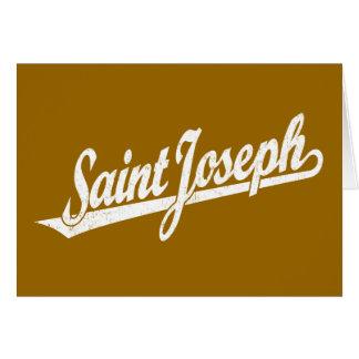 Logotipo de la escritura de San José en el blanco  Tarjeta De Felicitación