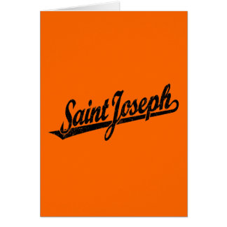 Logotipo de la escritura de San José en el negro a Tarjeta De Felicitación