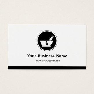 Logotipo de la farmacia de la asistencia médica - tarjeta de negocios