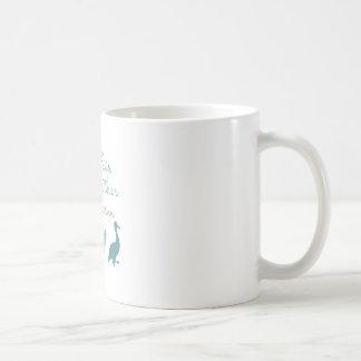 Logotipo de la granja de la pluma de taza de café