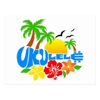 Logotipo de la isla del Ukulele Postal