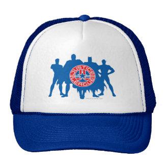 Logotipo de la liga de justicia y fondo sólido del gorra