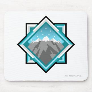 Logotipo de la montaña del terror del equipo alfombrilla de ratón