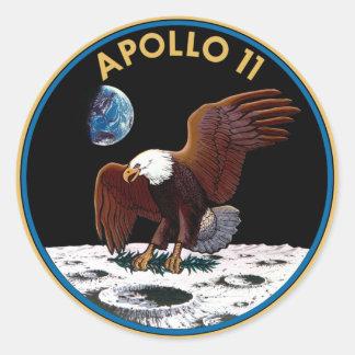 Logotipo de la NASA Apolo 11 Pegatina Redonda