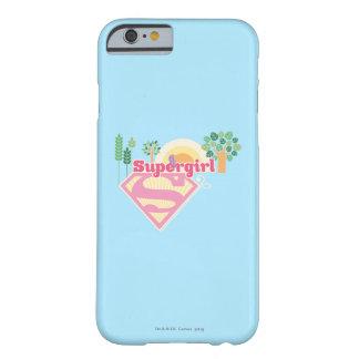 Logotipo de la naturaleza de Supergirl Funda Para iPhone 6 Barely There