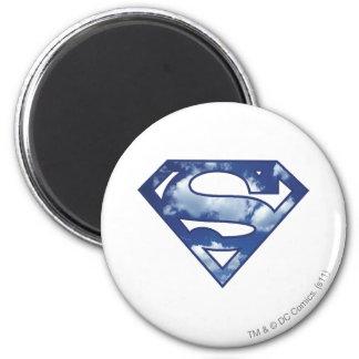 Logotipo de la nube de Supergirl Imán Redondo 5 Cm