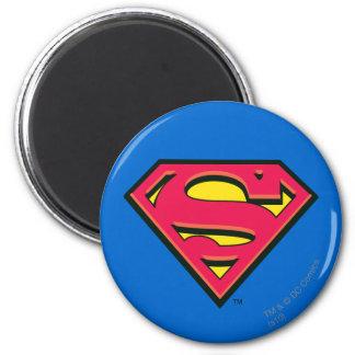 Logotipo de la obra clásica del superhombre imán redondo 5 cm