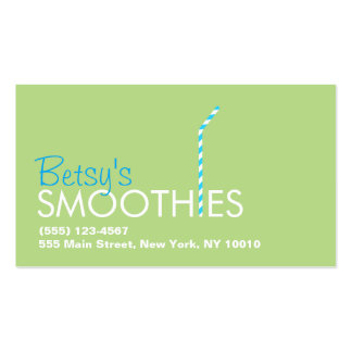 Logotipo de la paja de la barra del Smoothie Tarjetas De Visita