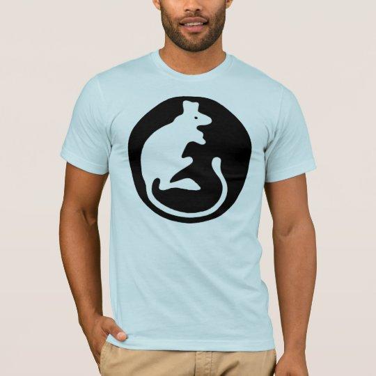 Logotipo de la rata camiseta