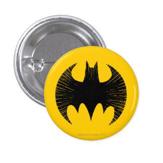 Logotipo de la raya del símbolo el | de Batman Chapa Redonda De 2,5 Cm