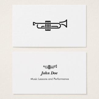 Logotipo de la trompeta - tarjeta de visita