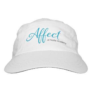 Logotipo de la turquesa del gorra de la influencia