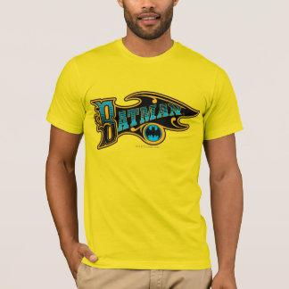 Logotipo de la turquesa del vintage de Batman el   Camiseta
