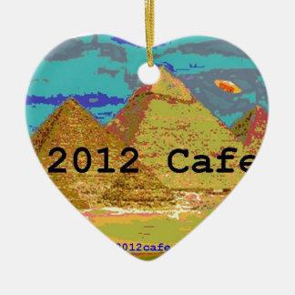 logotipo de las pirámides 2012Cafe Adorno Navideño De Cerámica En Forma De Corazón