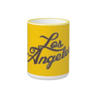 Logotipo de Los Ángeles del vintage Taza A Dos Colores