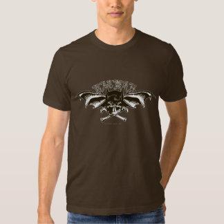Logotipo de los Batwings de la capucha del cráneo Camisetas