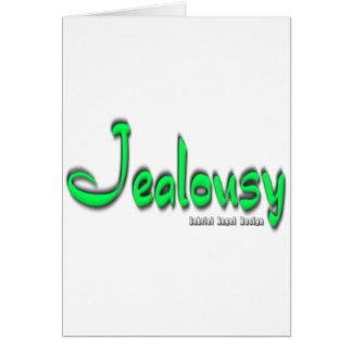 Logotipo de los celos tarjeta de felicitación