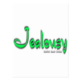 Logotipo de los celos tarjeta postal