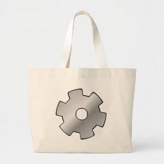 Logotipo de los engranajes y de los alambres bolsas