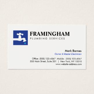 Logotipo de los fontaneros de la fontanería del tarjeta de negocios