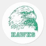 Logotipo de los halcones pegatinas redondas