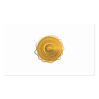 Logotipo de madera tarjeta de negocio