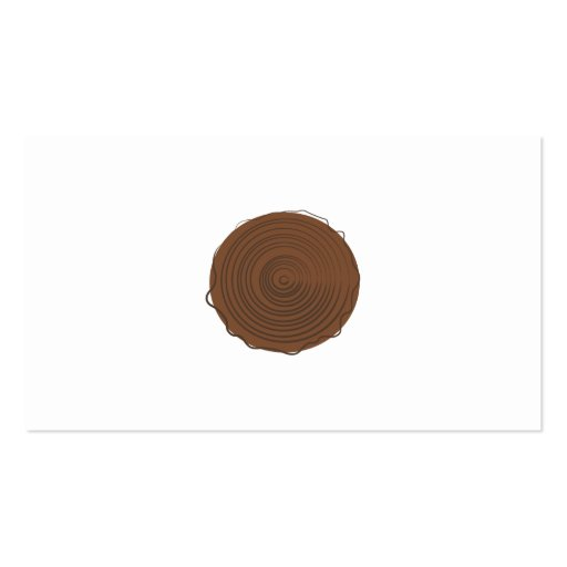 Logotipo de madera tarjeta personal
