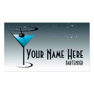 Logotipo de Martini de la tarjeta de visita del ca