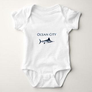 Logotipo de Maryland de la ciudad del océano Body Para Bebé