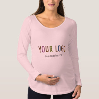 Logotipo de Maternity Long Sleeve Shirt Uniform Camiseta De Premamá
