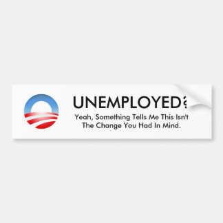 ¿Logotipo de Obama, PARADOS? , Sí, algo dice… Pegatina Para Coche