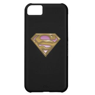 Logotipo de oro de Supergirl Funda Para iPhone 5C