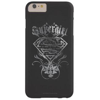 Logotipo de plata de Supergirl Funda Para iPhone 6 Plus Barely There