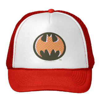 Logotipo de semitono rojo de Batman Gorros