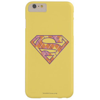 Logotipo de Supergirl Argyle Funda Barely There iPhone 6 Plus