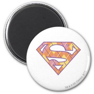 Logotipo de Supergirl Argyle Imán Redondo 5 Cm
